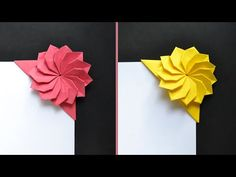 3d Quilling, Quilling Paper Craft, Easy Paper Crafts, Book Crafts, Diy Crafts, Origami Cards, Origami Paper Folding, Origami And Kirigami, Oragami