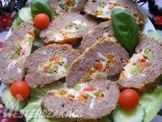 Zöldséges-tojásos fasírttekercs recept Meatloaf, Ale, Pork, Dishes, Kale Stir Fry, Ale Beer, Tablewares, Pork Chops, Dish