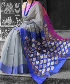 Designer Hand Crafted Chanderi Silk Saree