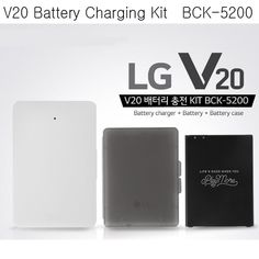 LG V20 Authentic Battery Charging Kit BCK-5200 Charger + 3200mAh Battery + Case #LG