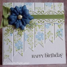 Very nice design and use of paper strips ~ by Debby4000 at A Scrapjourney
