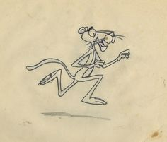 Pink Panther Publicity Drawing - ID: febpinkpanther9431 | Van Eaton Galleries