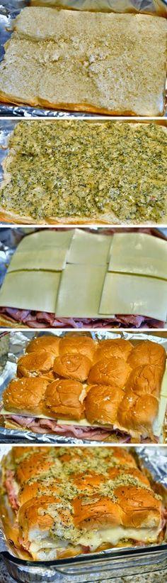Hawaiian Sweet Roll Ham Sandwiches - Food Recipes by Damla