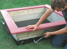 How to build a children's sandpit | Help & Advice | DIY at B&Q
