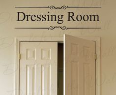 Dressing Room Closet Clothes Women Fashion Kid Room Girl Adhesive Vinyl Wall Decal Lettering Letters Decor Quote Sticker Decoration O13 on Etsy, £13.92