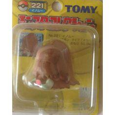 "Pokemon 2004 Piloswine Tomy 2"" Monster Collection Plastic Figure #221"