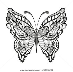 Abstract decorative butterfly. Reminiscent of lace, it is designed to decorate