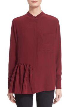 Stella McCartney Ruffle Hem Silk Crepe Blouse