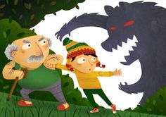 Chris Vosters - Peter and the wolf - grandfather peter wolf Peter Wolf, Dinosaur Stuffed Animal, Illustrations, Toys, Drawings, Animals, Activity Toys, Animales, Animaux