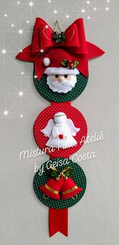 Easy Christmas Decorations, Christmas Card Crafts, Felt Christmas Ornaments, Christmas Sewing, Christmas Centerpieces, Christmas Projects, Holiday Crafts, Christmas Wreaths, Diy Christmas Decorations