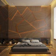Minimalist Bedroom Design for Modern Home Decor - Di Home Design Bedroom Wall Texture, Accent Wall Bedroom, One Bedroom, Bed Room, Accent Walls, Master Bedrooms, Hotel Bedroom Decor, Bachelor Bedroom, Bedroom Pics