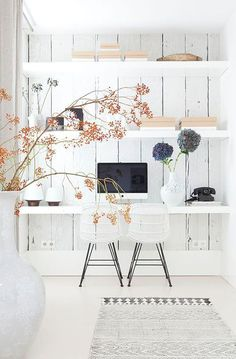house: the home office. dream house: the home office.dream house: the home office. Office Nook, Home Office Space, Office Workspace, Home Office Decor, Office Ideas, Office Inspo, Desk Ideas, Workspace Design, Desk Space