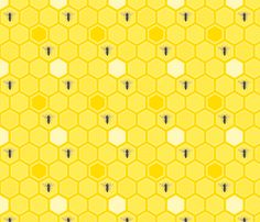 HoneyBees fabric by tammikins on Spoonflower - custom fabric
