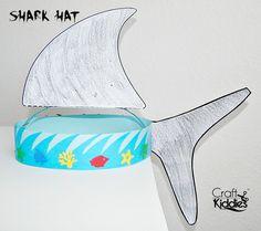 DIY Paper Shark Hat by Craft Kiddies                                                                                                                                                      More