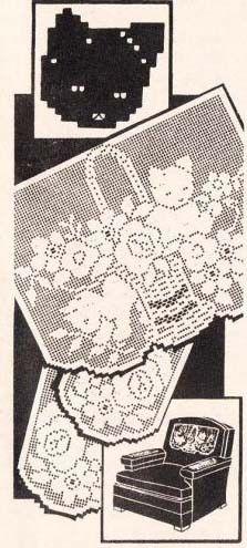 Vintage Filet Crochet Pattern ~ Puppy Dog Chair Set #2