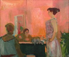 Elmer Bischoff (American, The Singing Lesson, Oil on canvas, 57 x 69 inches Bay Area Figurative Movement, Singing Lessons, Singing Tips, Digital Museum, Mark Rothko, Paul Gauguin, Gustav Klimt, Still Life Photography, Wedding Photography