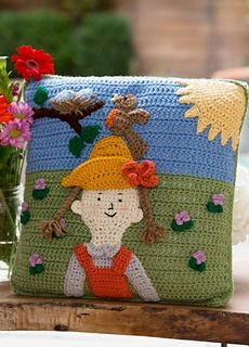 Spring Has Sprung Pillow  ~ free pattern ᛡ