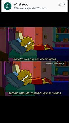 Otra vez volvió el insomnio 💔 Simpsons Frases, Disney Movie Quotes, Mr Wonderful, Mood Wallpaper, I Am Sad, Sad Life, Sad Day, The Simpsons, Sad Quotes