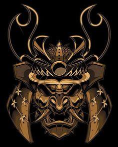 Finished samurai boss! #vector #samurai #mempo #mask #illustration #sweyda