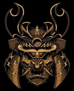 Finished samurai boss! #vector #samurai #mempo #mask #illustration #sweyda
