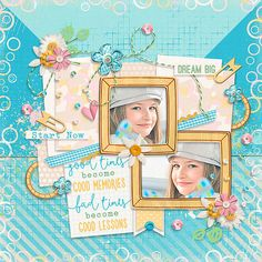 Page made by ConnyS using Just A Newbie | Collection by Akizo Designs (Digital Scrapbooking layout)