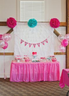 """Photo 1 of 25: Pink Ombre / Birthday """"B's Pink Ombre 1st Birthday"""" 