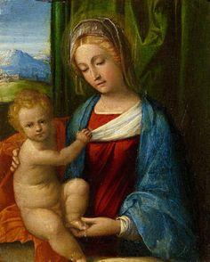 Garofalo (Benvenuto Tisi detto) - Madonna con Bambino - 1530-1535 - Accademia Carrara di Bergamo Pinacoteca