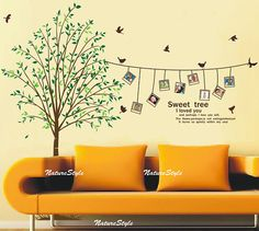 Photograph on the tree-Vinyl Wall Decal,