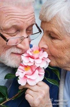 Couple, Romance, Young at Heart Couples Âgés, Vieux Couples, Couples In Love, Elderly Couples, Old Love, Love Is All, True Love, Grow Old With Me, Growing Old Together