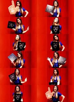 Lea in the photo booth