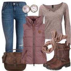 Leisure Outfits: Delicate Dandelion at FrauenOutfits.de- Leisure Outfits: Delicate Dandelion at FrauenOutfits. Plus Size Winter Outfits, Casual Winter Outfits, Winter Fashion Outfits, Autumn Fashion, Komplette Outfits, Outfits For Teens, Fall Outfits, Summer Outfits, Mode Ab 50