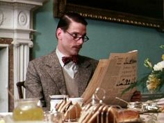 Jeremy Irons as Charles Ryder in the last few episodes of the 1981 production of Brideshead Revisited.