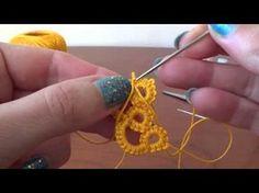 Come aggiungere filo per creare CHIACCHIERINO AD AGO How to add yarn to create NEEDLE TATTING - YouTube