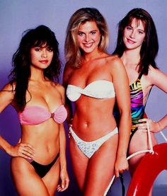 Nia Peeples, Catherine Oxenberg,  Cheryl Pollak, promo photo for Swimsuit, 1989