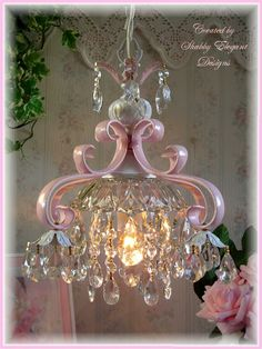adorable pink chandelierbyshabby elegant designs adorable pink chandelier