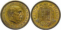 La Moneda de 2,50 Pesetas  de 1958.