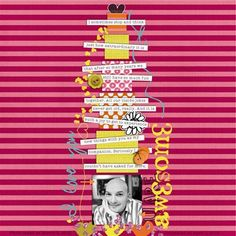 """""""Awesome"""" by Cristina, as seen in the Club CK Idea Galleries. #scrapbook #scrapbooking #creatingkeepsakes"""