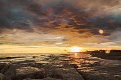 tramonto mare di Latina