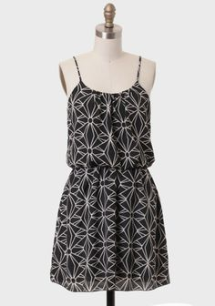 love. Geometric Garden Printed Dress