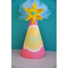 PRINTABLE PARTY HAT - Pinwheel Birthday Party Collection by Love ...