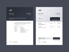 Letterhead and Invoice layout design by Matias Gallipoli Layout Design, Free Design, Print Design, Graphic Design, Web Layout, Design Ideas, Invoice Layout, Invoice Template Word, Brand Identity