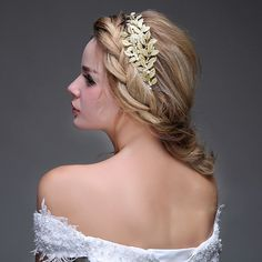 Vintage Gold Leaf Bridal Hats Headpiece Hair Accessories For Wedding Boho Free Shipping In Stock Bling Bling Cheap Hair Wear
