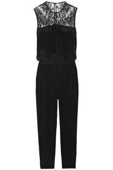 Mason by Michelle Mason Silk and lace jumpsuit | NET-A-PORTER