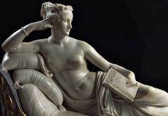 """Paolina #Bonaparte, sorella di #Napoleone,  #donna di grande fascino e #bellezza. Qui immortalata dal grande #Canova nella celebre statua """"#Venere Vincitrice""""... mentre in mano custodisce una confezione di #LacteaseDNA... :-) #LacteaseNellaStoria"""