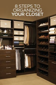 Here is Colin's 8 Steps To Organizing Your Closet.