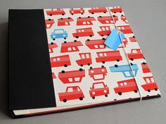 IONA BINDING - Handmade photo album measures 14,17 x 13,58.  Covered with Japanese fabric and black fabric.
