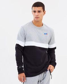 new product c7064 2b16f Russel Athletic Fleece Crew Sweater