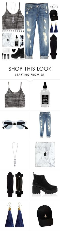 """""""🐘🖤!"""" by parkmona ❤ liked on Polyvore featuring H&M, Little Barn Apothecary, River Island and WithChic"""