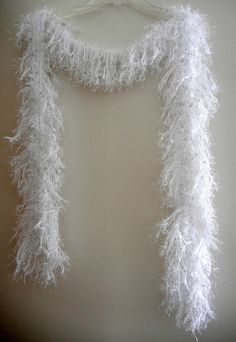 Handmade Glamour Scarf White with Sequins by MerlinDesigns on Etsy, $35.00