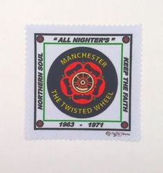 NORTHERN SOUL MUSIC SEW ON IRON ON PATCH: MANCHESTER THE TWISTED WHEEL